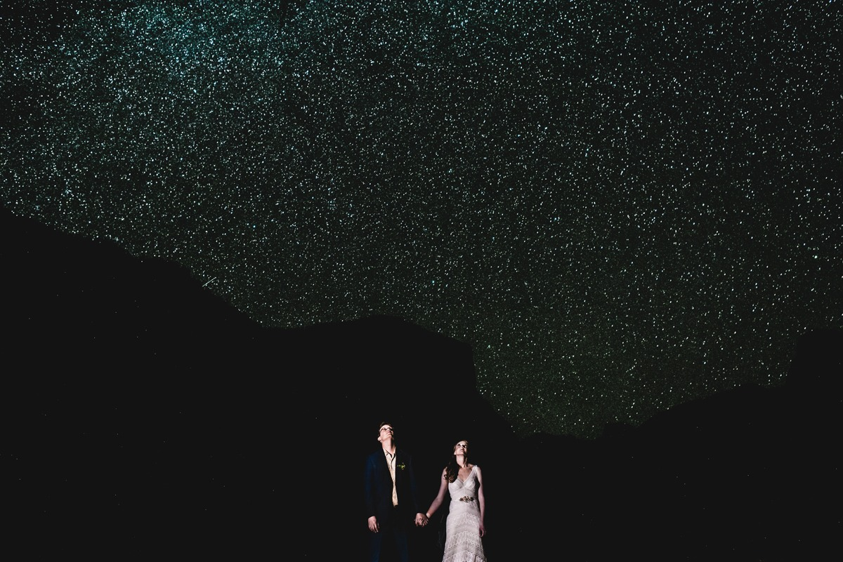 Yosemite Night Star Wedding Shot