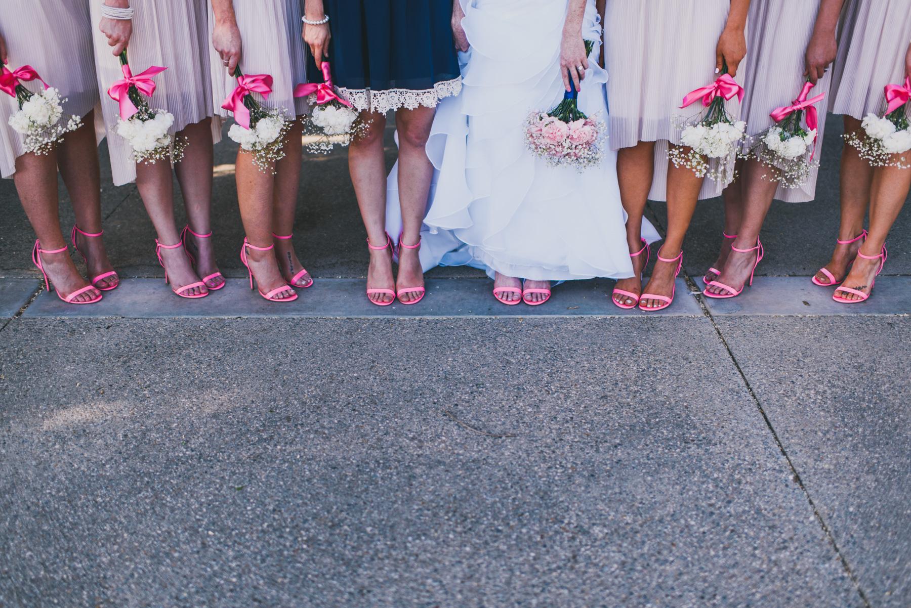 LA Wedding Photographer - Pink Shoes