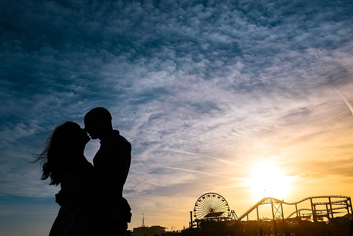 Santa Monica Beach Engagement Photos