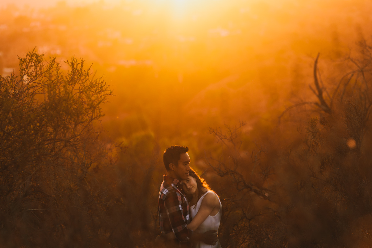 LA Sunset Engagement Photos