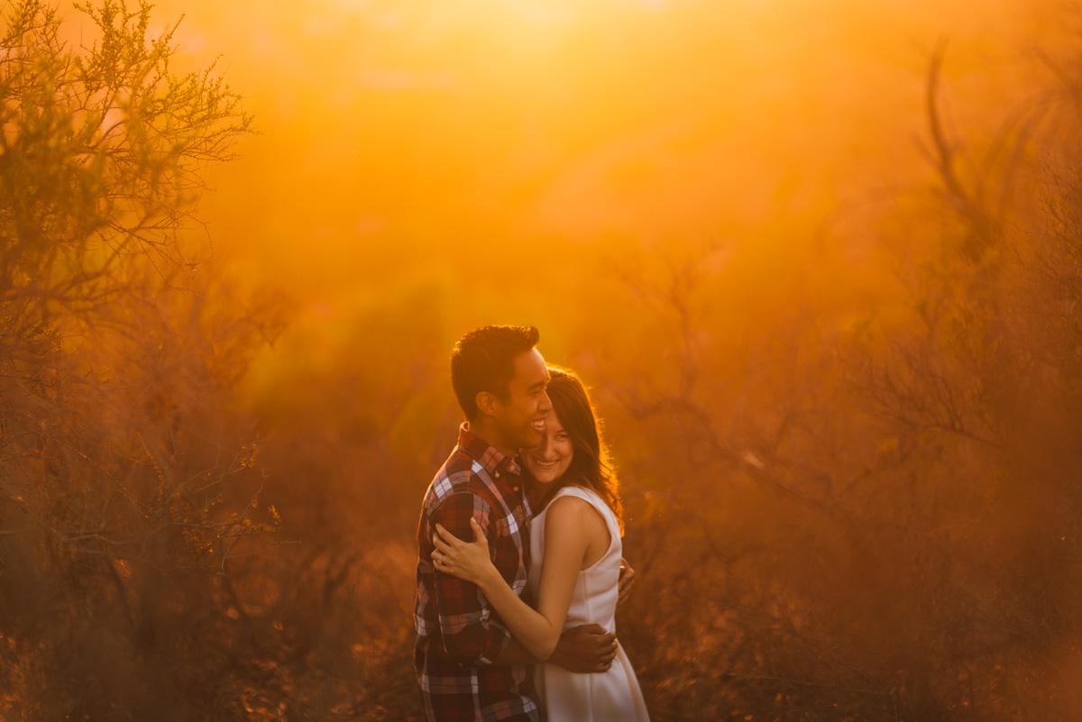 LA Sunset Engagement Photos