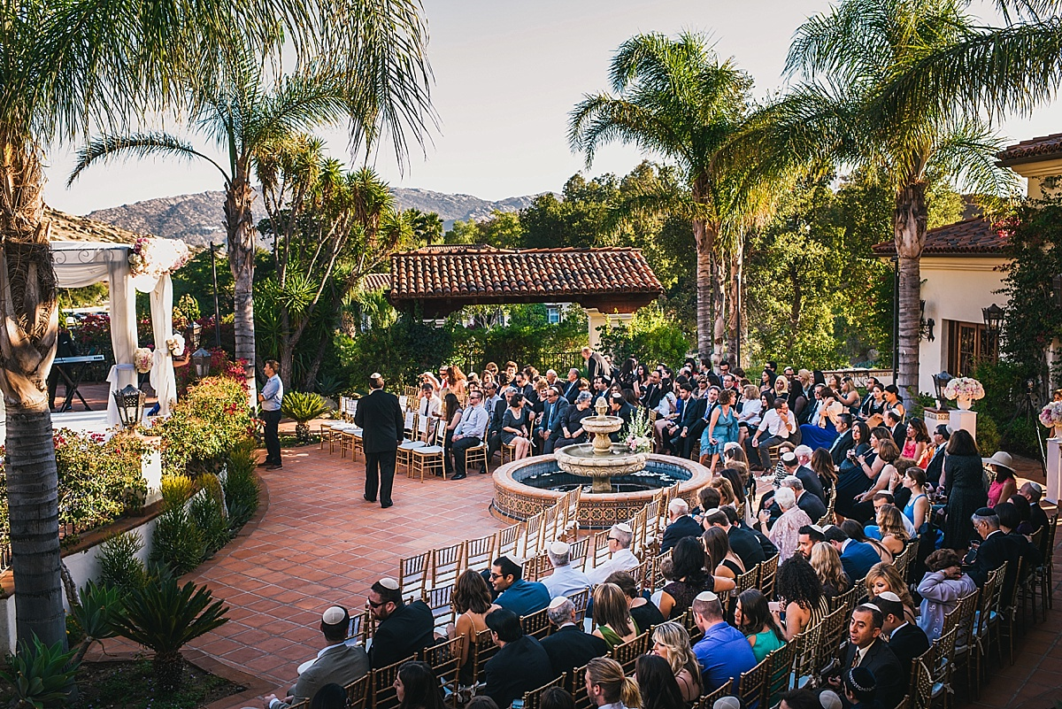 Hummingbird Nest Ranch Wedding Ceremony