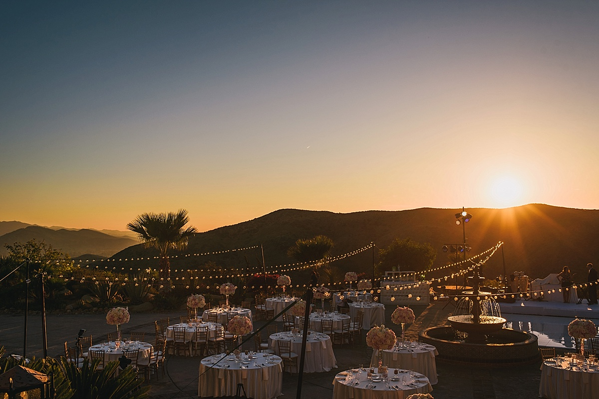 Hummingbird Nest Ranch Wedding Sunset Reception