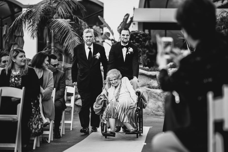 LA Wedding Photo_Parents walk down the aisle