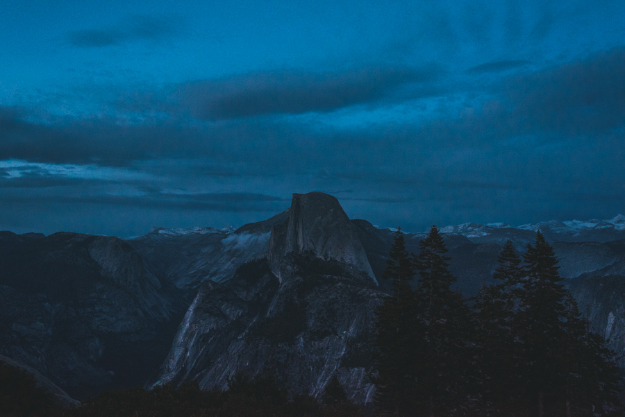 Yosemite glacier Point Night