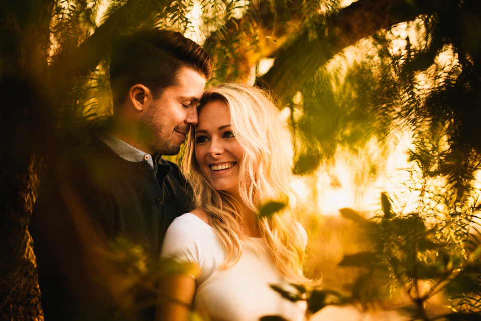 gorgeous sunset couple portrait