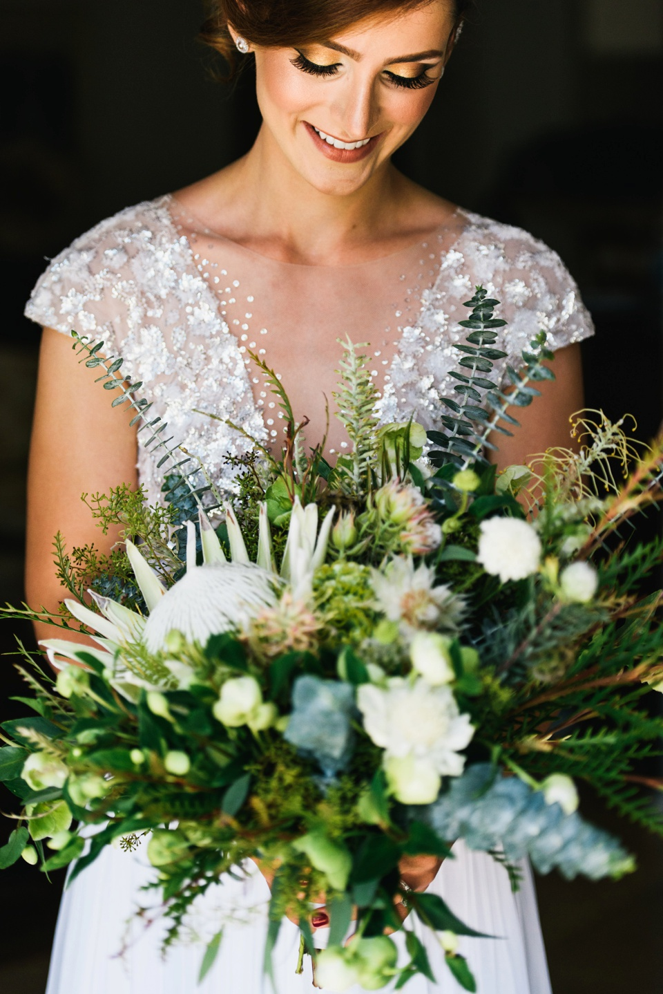 Bride portrait with flowers