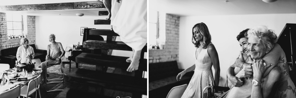 bride enters room and mum is emotional