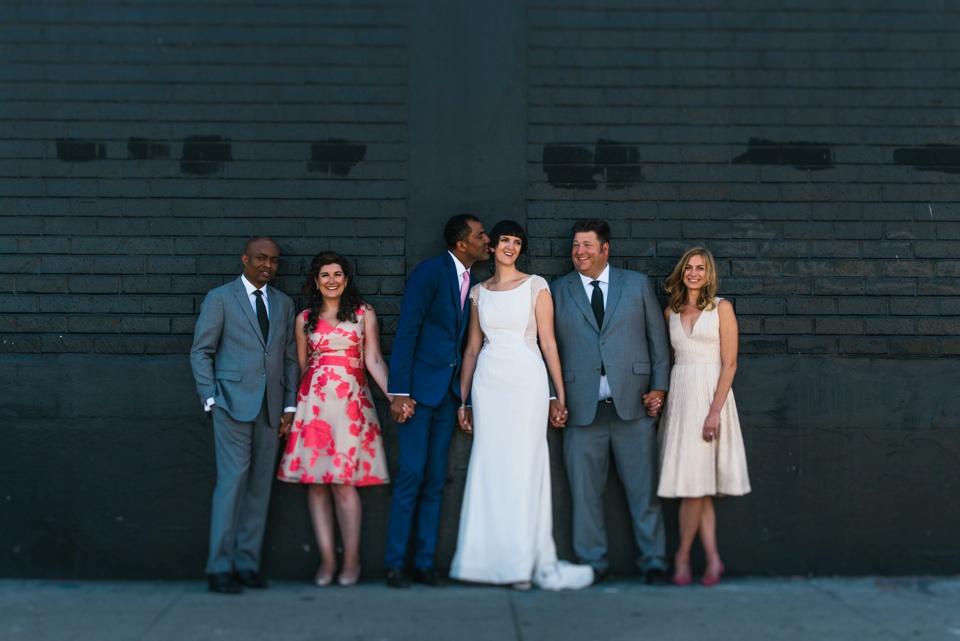 bridal party shot DTLA