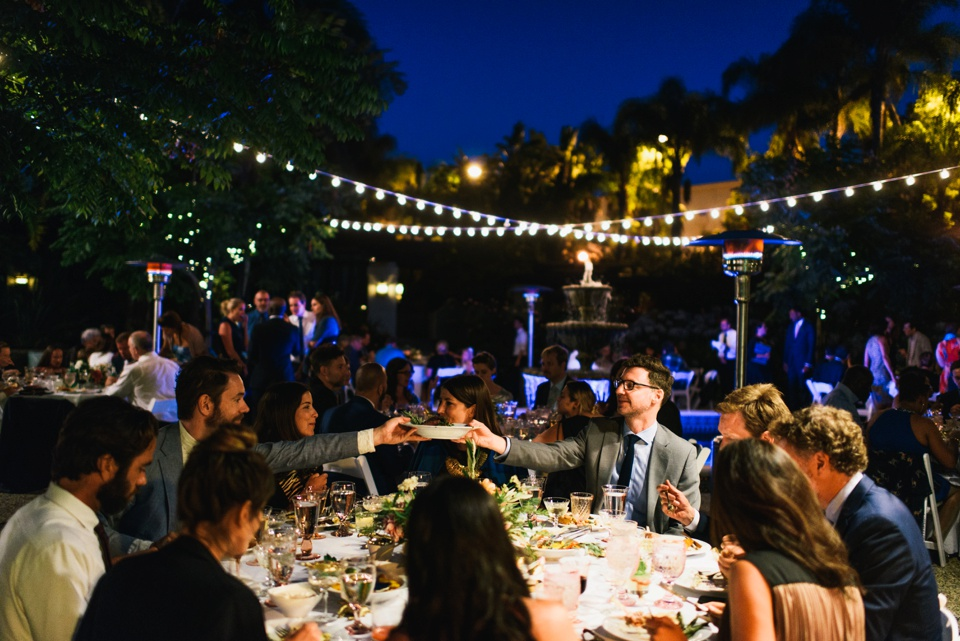 evening reception at los angeles river center and gardens wedding