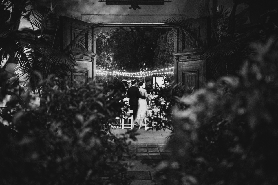 stunning evening reception at los angeles river center and gardens wedding
