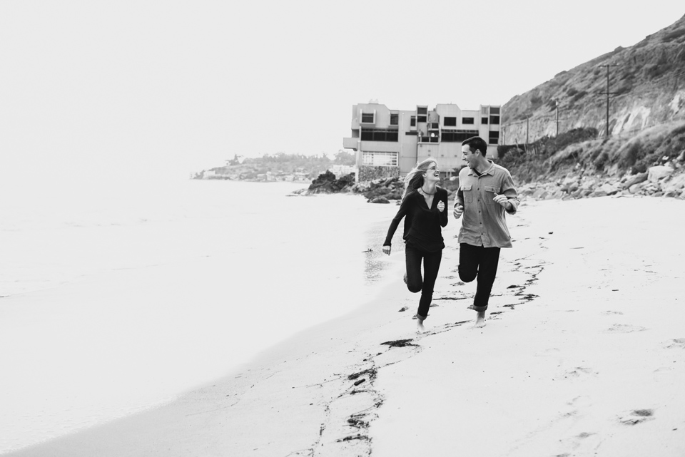 engagement shoot running couple