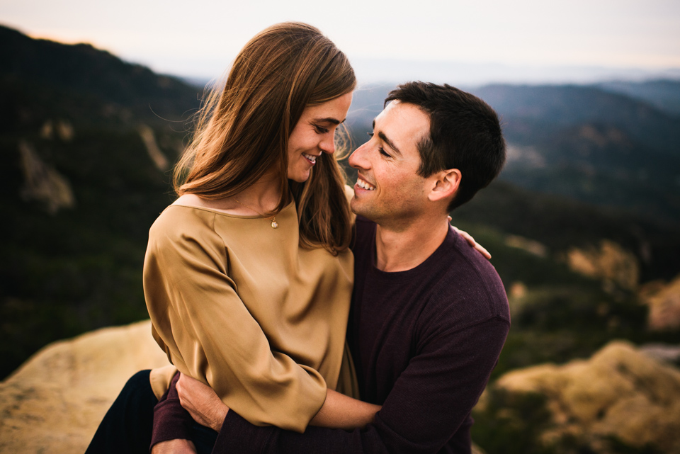 malibu mountain engagement