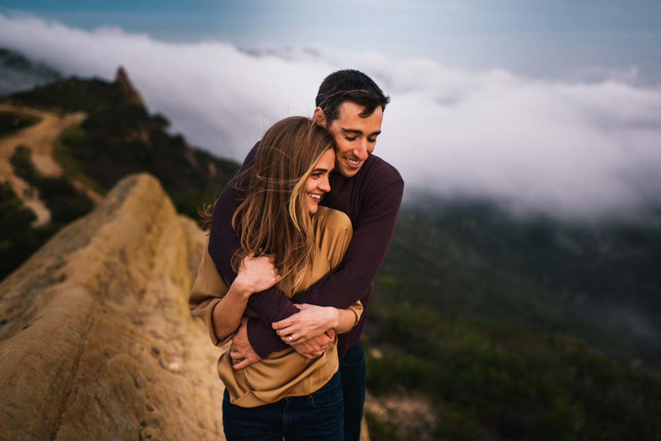 malibu mountains engagement photography