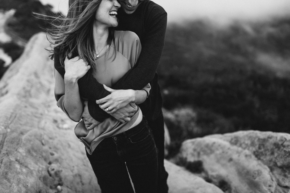 malibu mountains engaged couple photo