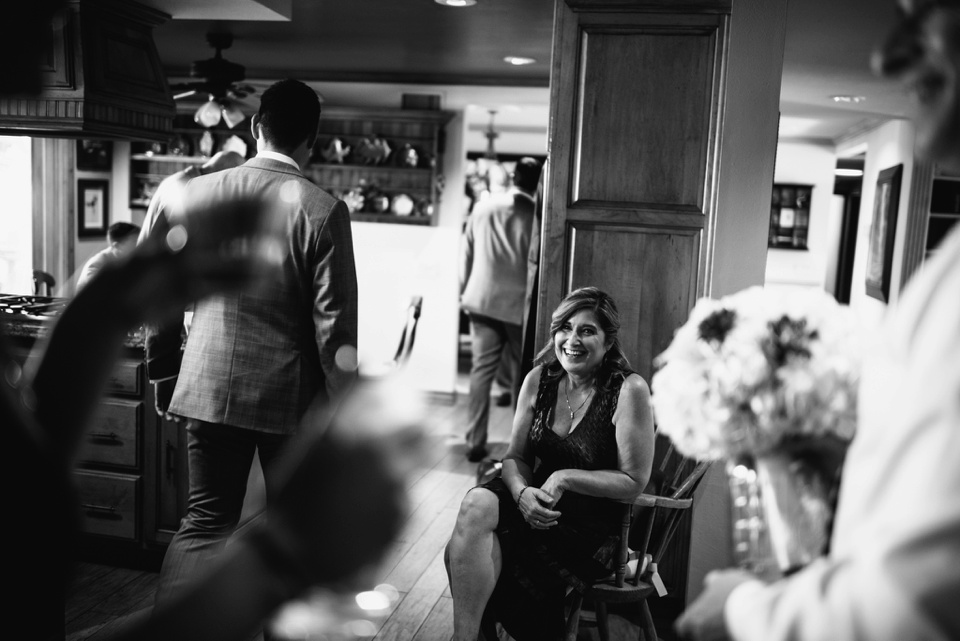 candid moment of mother of groom