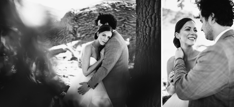 romantic portraits under tree