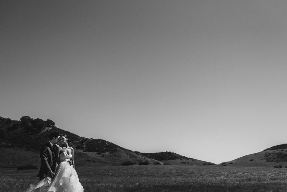 dramatic portrait of couple in agoura hills