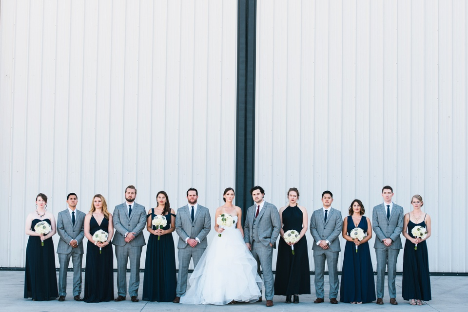 camarillo airport wedding wedding party group shot