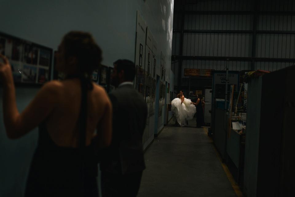 bride takes toilet breaks before ceremony