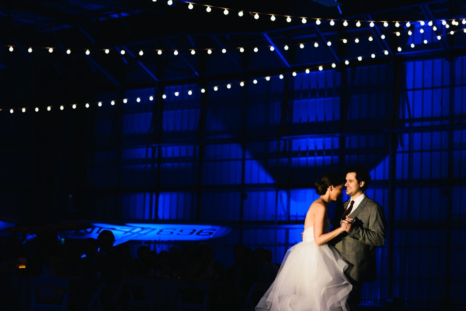first dance in hangar