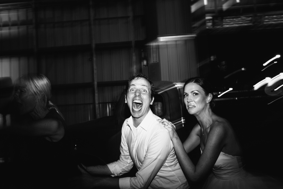 funny faces as bride dances with friend
