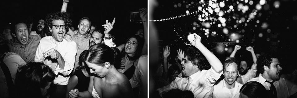 crazy partying at camarillo airport wedding