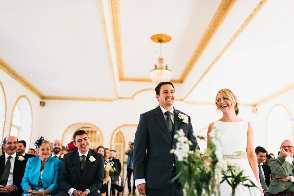 happy couple at northbrook park wedding