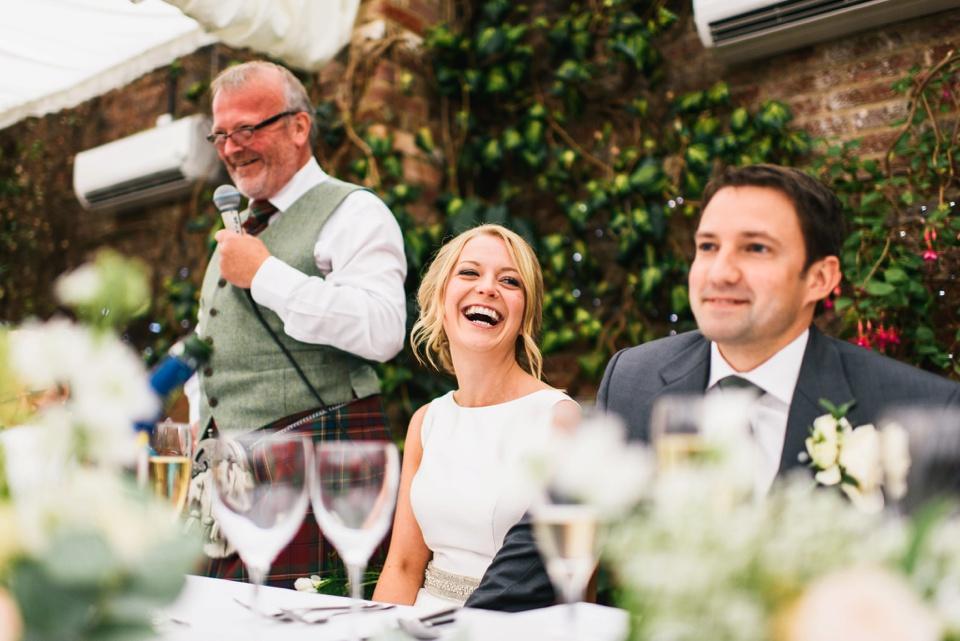 speeches Northbrook Park wedding