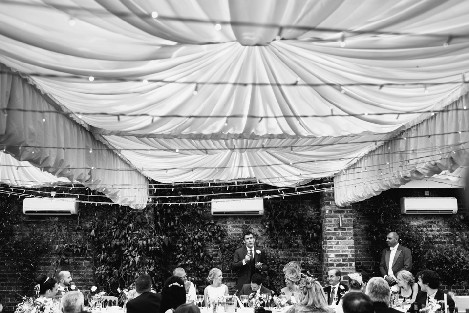 bestman speach at northbrook park wedding in surrey UK