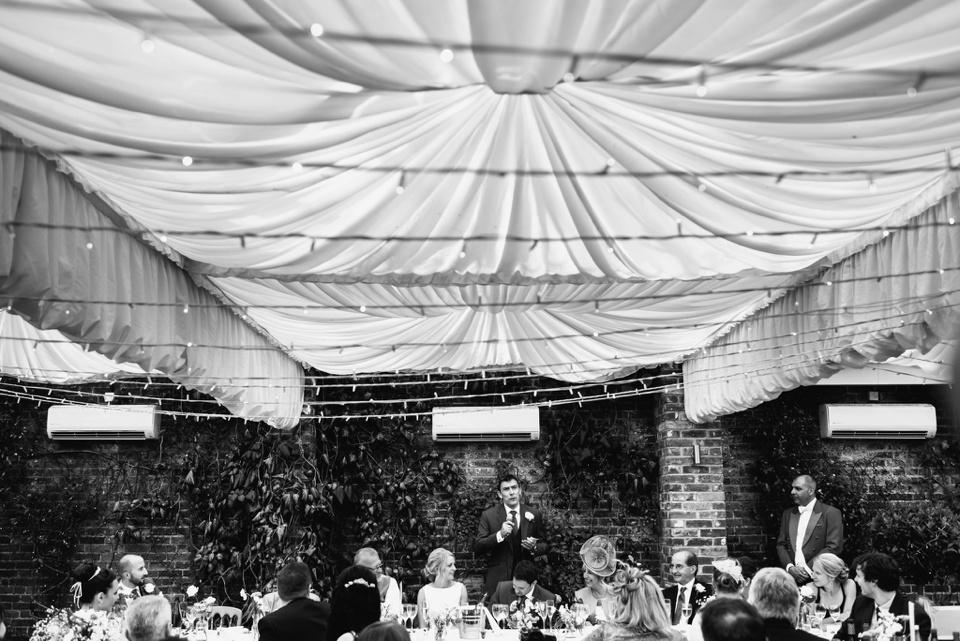 bestman speach at northbrook park wedding in surrey UK