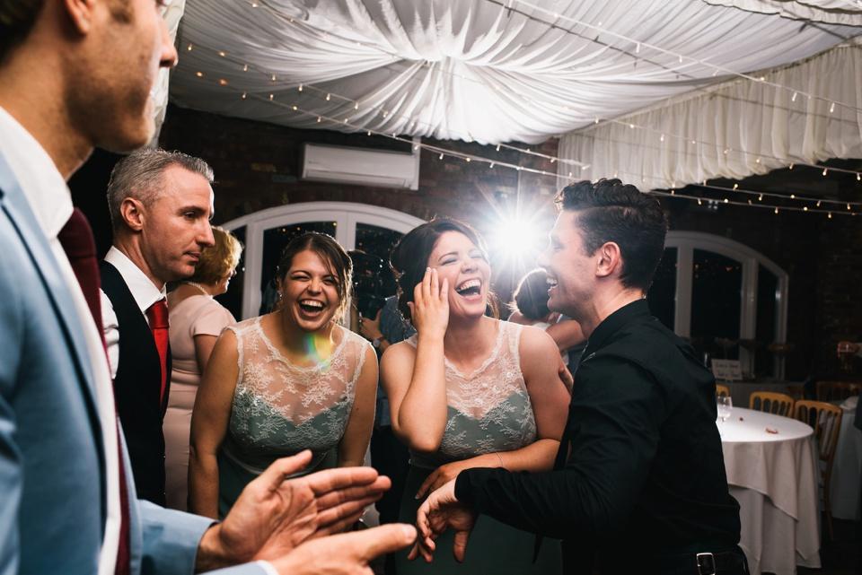 dancing at Northbrook Park wedding