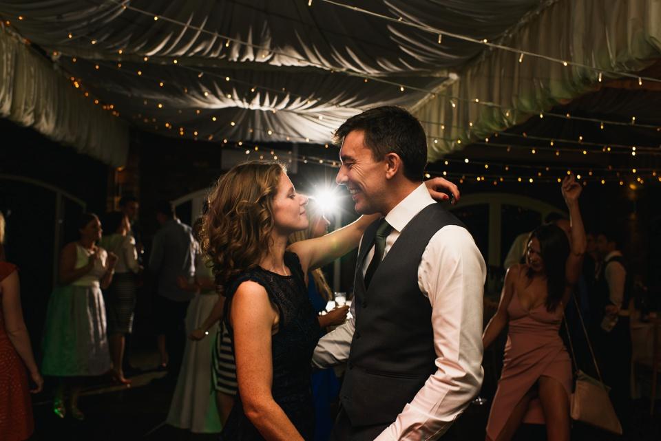 couple dance floor shot