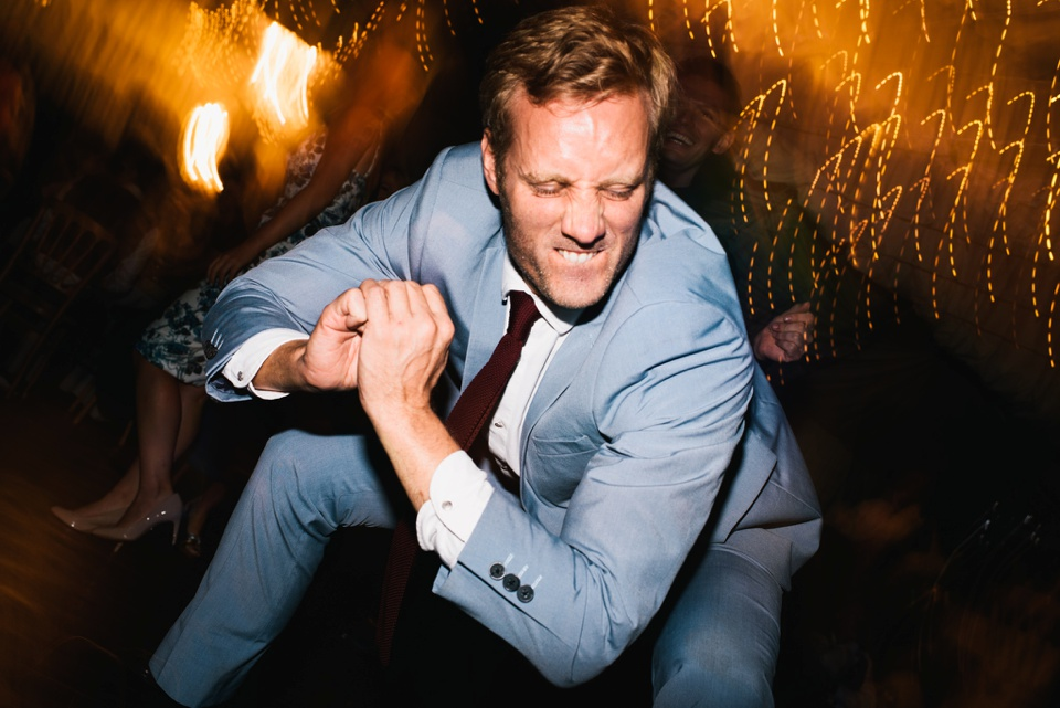 crazy dancing at wedding