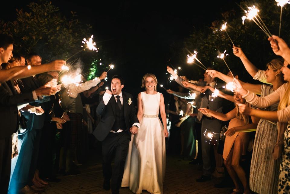 sparkler exit Northbrook Park wedding