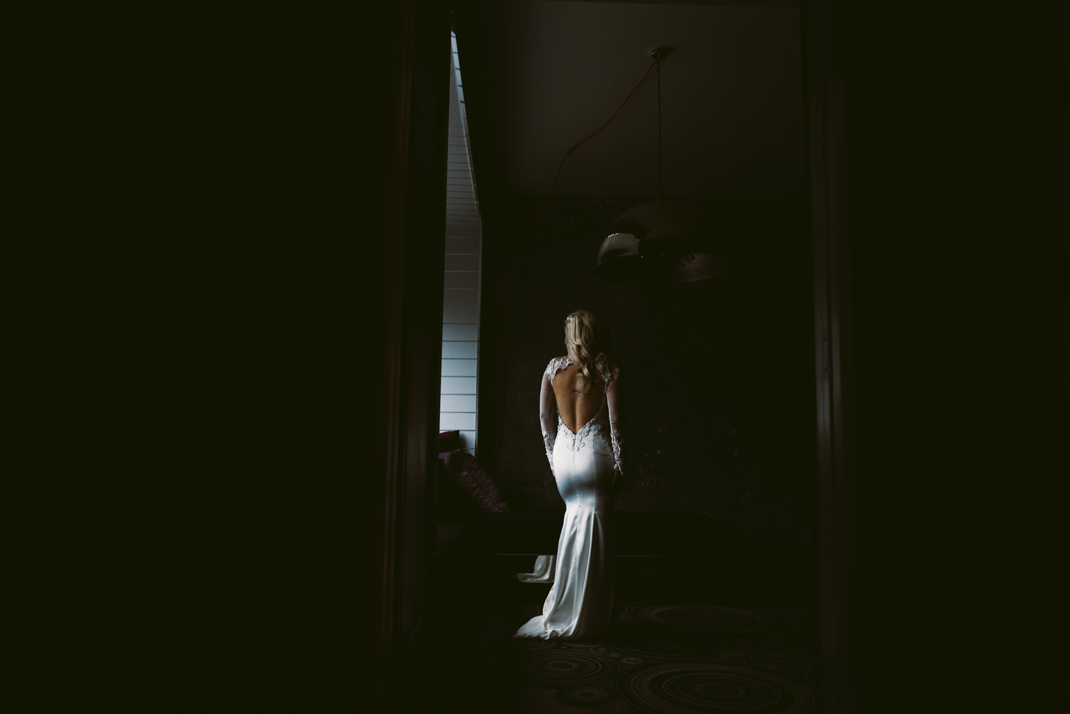 bride portrait in window light - Best LA Wedding Photography