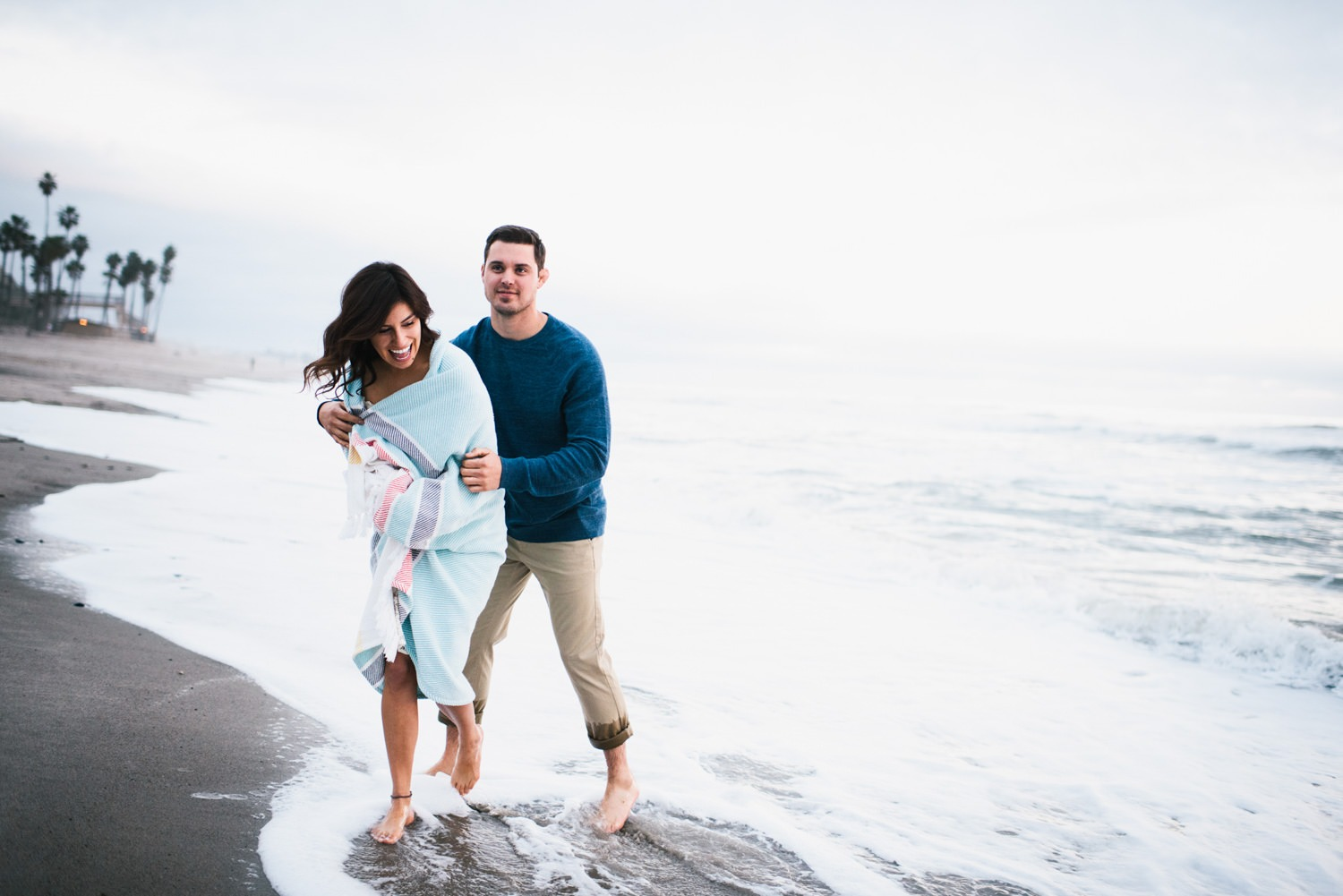 engagement shoot on the beach - Best LA Wedding Photography