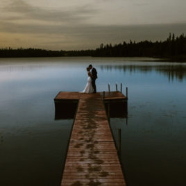 alaska wedding on lake