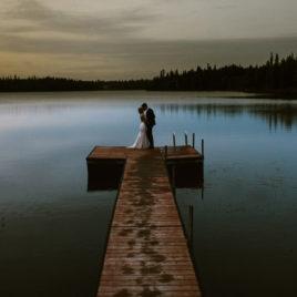 alaska wedding on lake