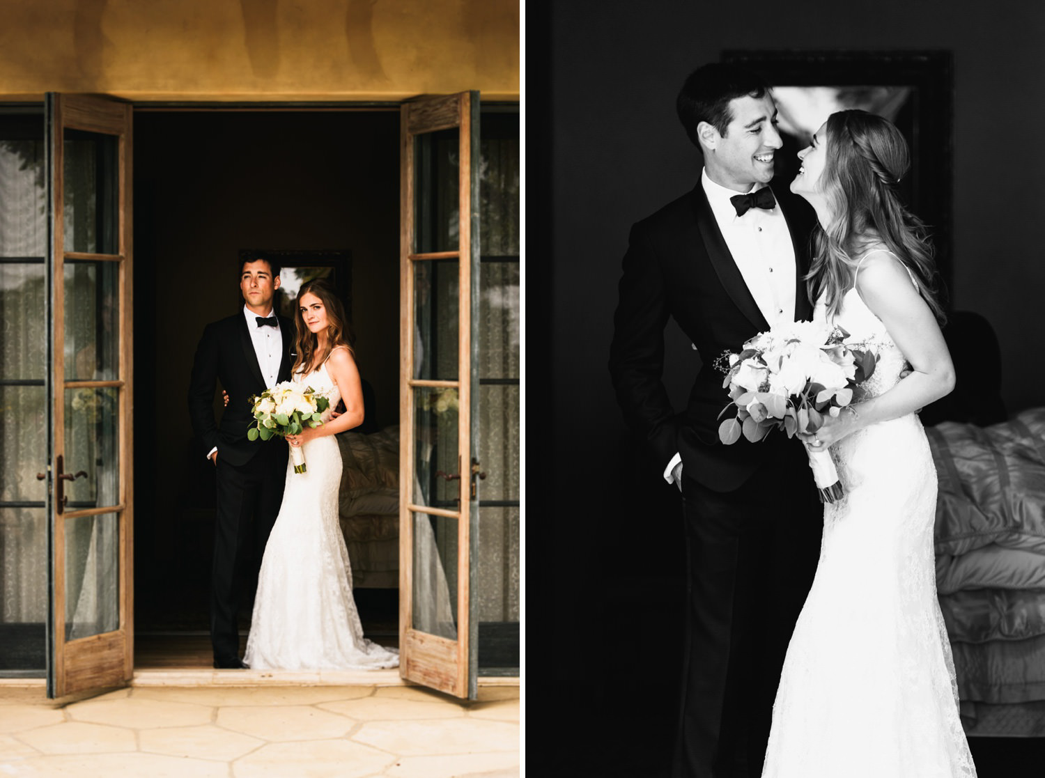 modern and romantic couple portraits - montecito wedding photography