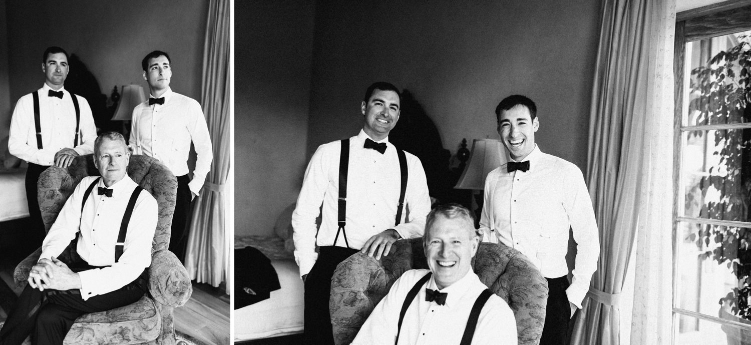 brothers and dad pose and have fun - montecito wedding photography