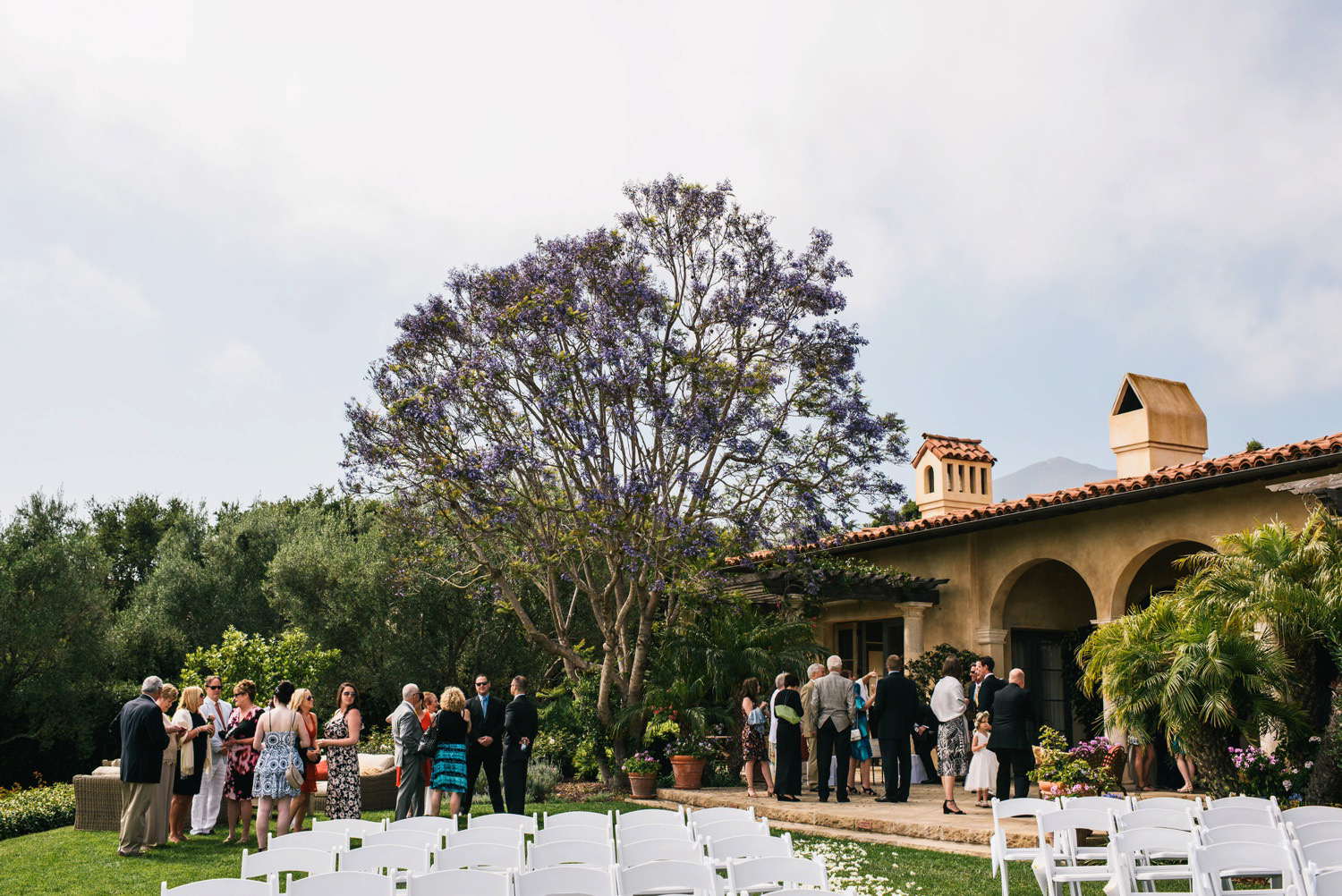 wide shot of ceremony space - montecito wedding photography