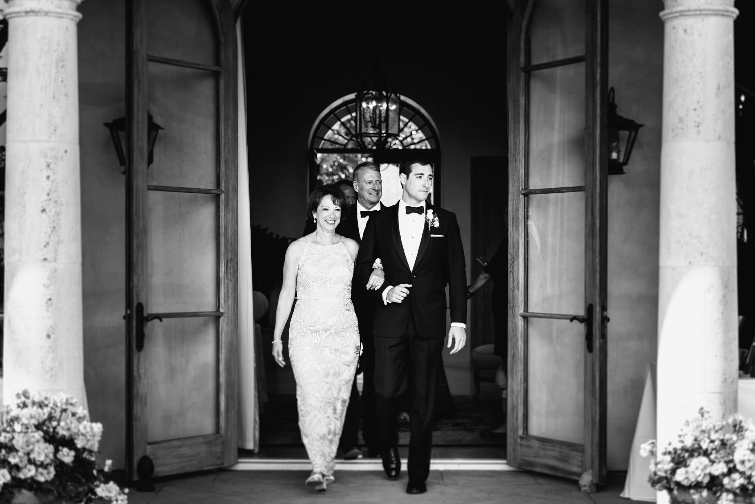 groom escorts mom for ceremony processional - montecito wedding photography